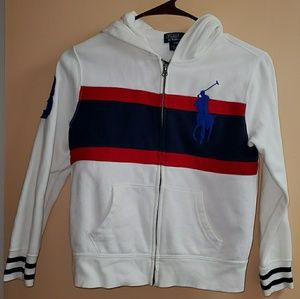 Boys Polo Ralph Lauren Zip Up Hoodie Jacket Small